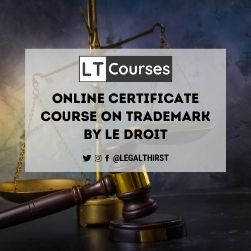 Online Certificate Course on Trademark by Le Droit